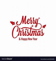 merry christmas vintage lettering with sign vector image