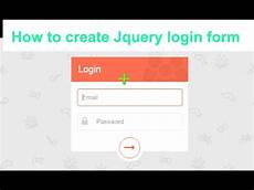 how to create beautiful jquery login form step by step html css youtube