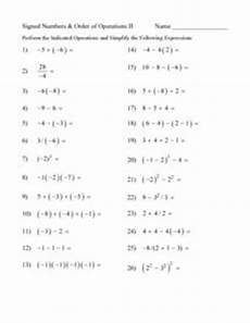 signed numbers and order of operations ii 7th 8th grade lesson plan lesson planet