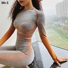 work out sleeve shirts seamless sleeve crop top shirts orange