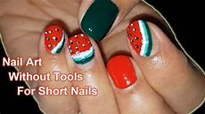 easy summer nail art tutorial for short nails without