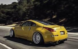 Nissan 350z Stance Yellow Road Speed In Motion HD Wallpaper