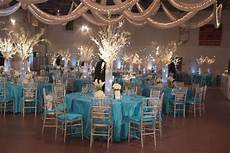incredible centerpieces and tables done for a school auction winterwonderland themed event