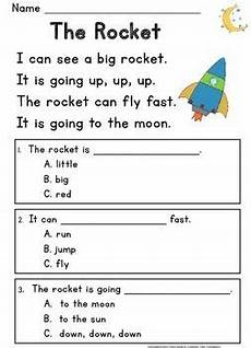 kindergarten reading comprehension guided rdg level c passages and questions reading