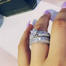 925 sterling silver luxury bold big wedding rings for