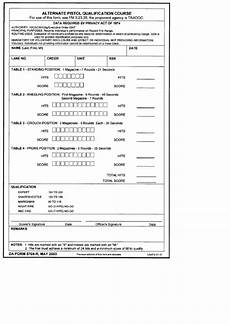 da form 5704 r alternate pistol qualification course printable pdf download