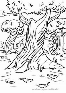 Malvorlage Jahreszeiten Kostenlos Herbstbaum Zum Ausmalen Kinderbilder