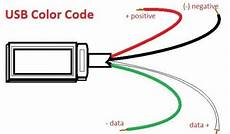 usb wire color code the four wires inside usb coding electronics projects