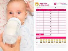 horaire biberon bébé 1 mois pratique biberon tableau de suivi des t 233 t 233 es