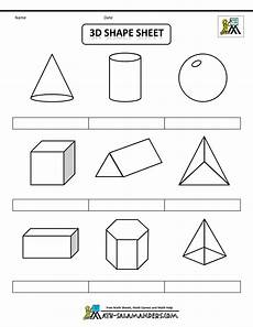 printable shapes 2d and 3d