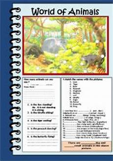 animal world worksheets 14372 world of animals esl worksheet by jhansi