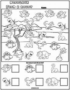 dinosaurs worksheets for preschool 15256 find count dinosaur characters con im 225 genes actividades de dinosaurios dinosaurios
