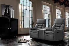 Kinosessel Fuer Zuhause - 2 sitzer kinosessel kunstleder grau cinema relax sofa