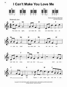 i can t make you love me sheet music bonnie raitt super easy piano