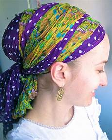 How To Hair Wrap Scarf