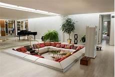 moderne sitzecke stylische raumgestaltung mit bodenkissen freshouse