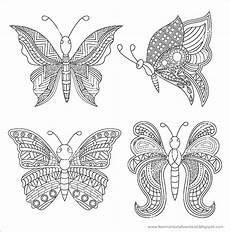Ausmalbilder Mandalas Schmetterling Mandalas Schmetterlinge Zum Ausdrucken