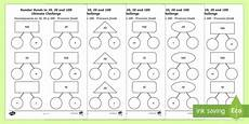 number bonds to 10 20 and 100 ultimate challenge worksheet activity sheet