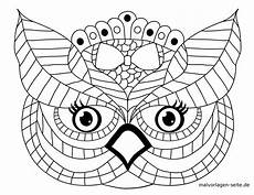 eulen ausmalbilder mandala x13 ein bild zeichnen