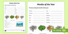 months of the year worksheet worksheet ni ks1 numeracy months year