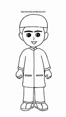 Mewarnai Gambar Kartun Anak Muslim 14 Alqur Anmulia