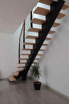 escalier metal et bois 238 le drennec acier escalier bois un quart tournant h 234 tre