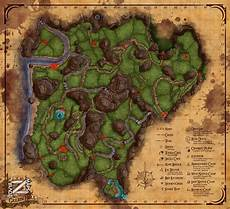 Map Colored Green Hell Poi Info Greenhell