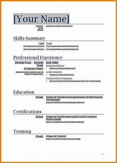 8 blank basic resume templates professional resume list