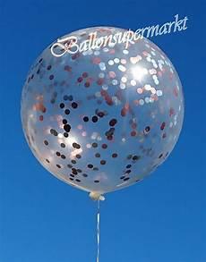 ballons mit konfetti riesen konfetti ballons transparent gef 252 llt mit konfetti
