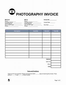 free photography invoice template word pdf eforms