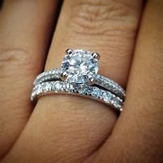 blue nile wedding ring sets trio micropav 233 diamond engagement ring in platinum 1 3 ct
