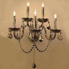 shop provence venetian style 5 light chrome crystal candle wall sconce light two 2 tier