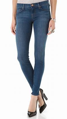 j brand 910 low rise pacifica in blue lyst