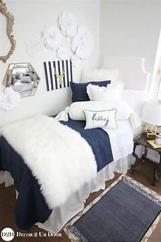 navy white fur designer dorm bedding set dorm bedding