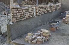 New Foundation Brick Wall Building And Construction