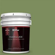 behr marquee 5 gal ppu10 3 green energy flat exterior paint 445305 the home depot