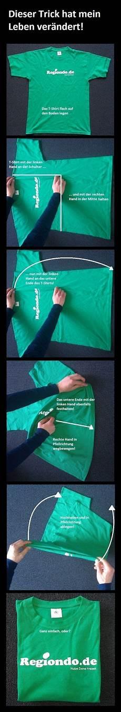 Ausprobieren T Shirt Zusammenlegen Tipps Und Tricks Und