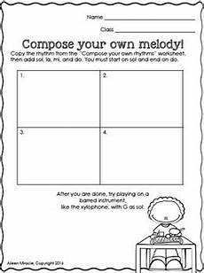 music composition worksheets second grade by aileen