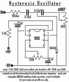 hysteresis oscillator schematic diy electronics