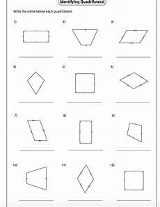 classifying quadrilaterals worksheet nms self paced math