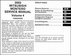 online car repair manuals free 2002 mitsubishi lancer evolution electronic valve timing 2002 mitsubishi montero sport repair shop manual original set