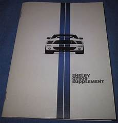 vehicle repair manual 2007 ford gt500 parking system 2007 ford mustang shelby gt500 owner s manual supplement diy repair manuals