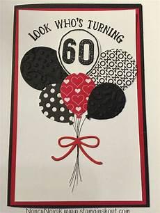 Geburtstagskarte 60 Basteln - happy birthday 60 balloon cards 60th birthday cards
