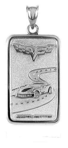 corvette jewelry ingot 925 sterling silver 3 79 dwt