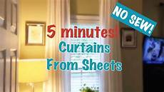 diy curtains out of sheets youtube
