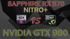 rx 570 test sapphire rx 570 nitro vs gtx 980 benchmarks tests review 1080p 1440p 4k