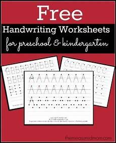 free printable handwriting worksheets for preschool kindergarten free homeschool deals