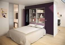 lit avec armoire en tete de lit les rangements design sur mesure de chic mon placard