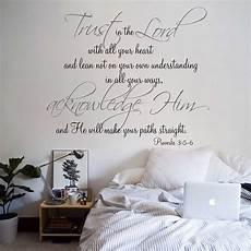 wall sticker decal quotes religious quote vinyl wall decal trust in the lord with