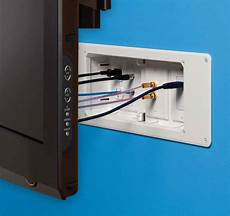 com arlington tvb613 1 recessed outlet box with paintable trim plate white 4